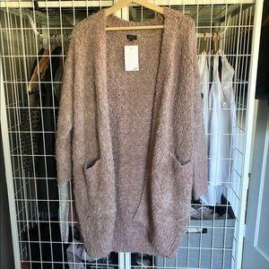 Sweaters - New Mauve Soft Knit Open Sweater | Medium/Large